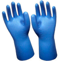 Unsupported Unlined Blue Nitrile Gloves with Tractor Tread (25 Pairs)