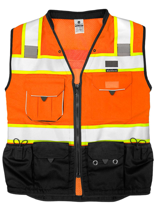 ML Kishigo - Premium Black Series Surveyors Vest - Orange