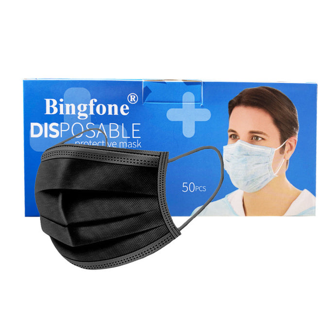 Black Disposable Mask (50pcs)