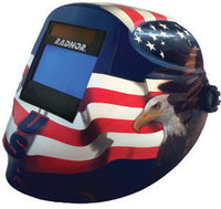 Radnor RDX60 Red, White, And Blue Welding Helmet With 5 1/4