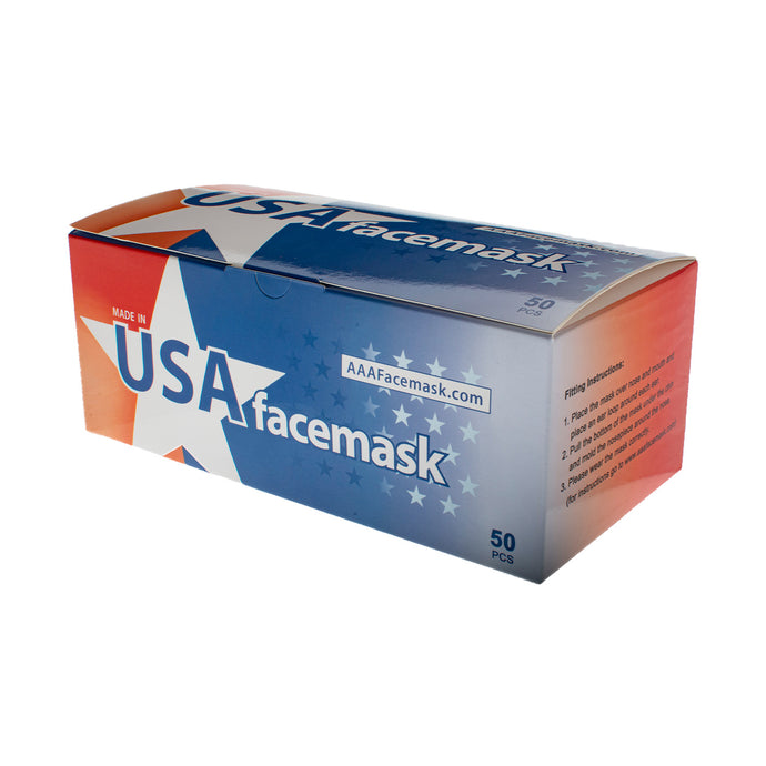 3 Layered Face Mask - 50 Masks - MADE IN THE USA