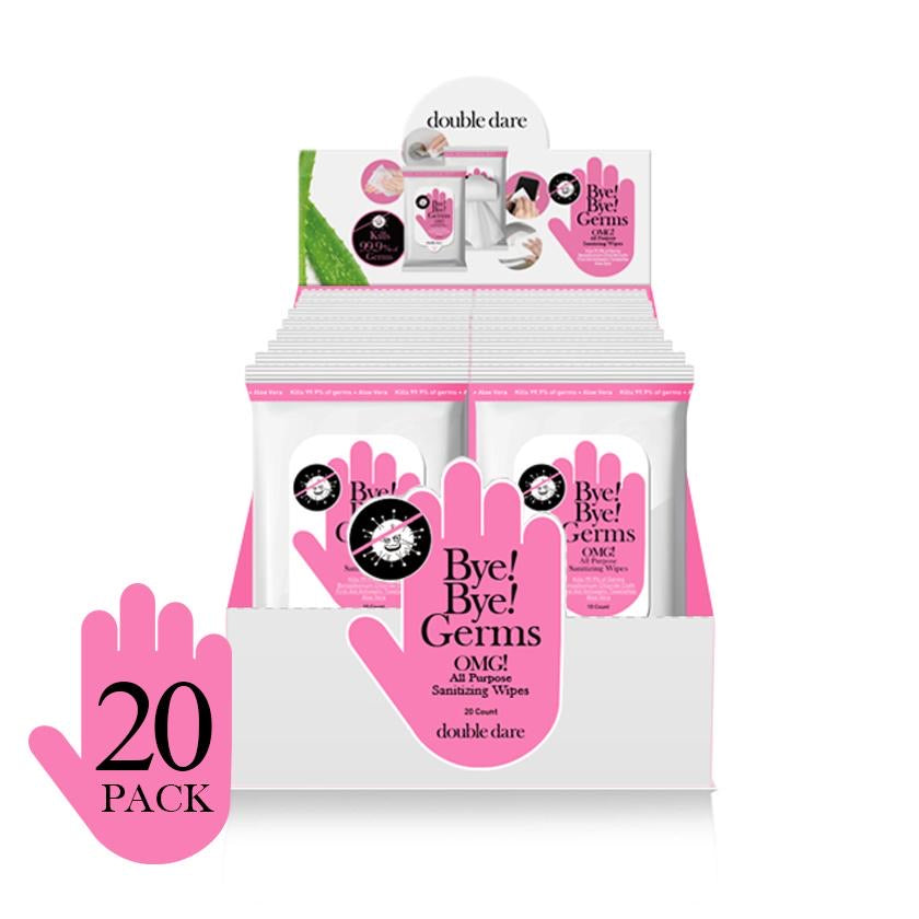 Bye! Bye! Germs OMG! Hand Sanitizing Wipes 20 Pack