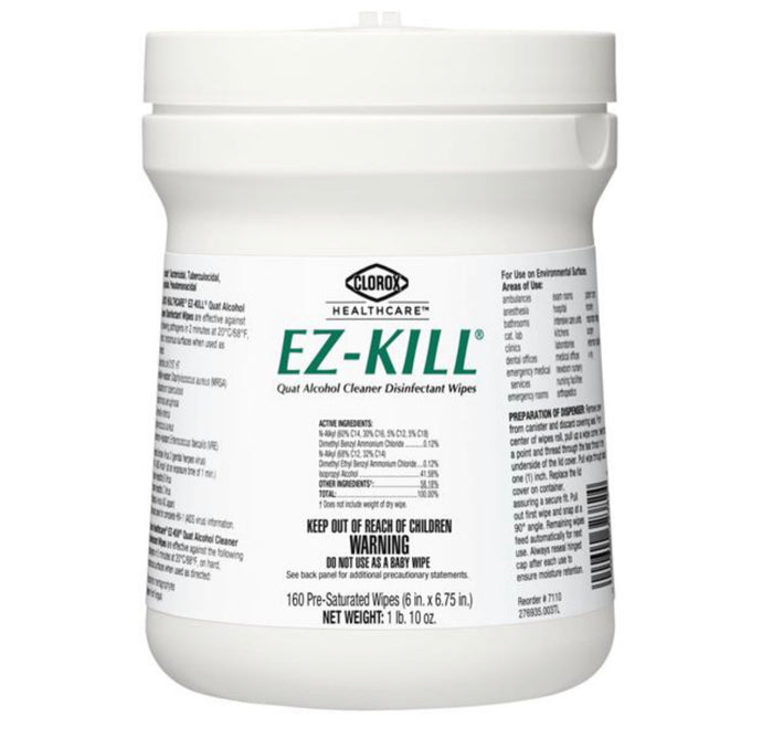 EZ-Kill Disinfectant Wipes 160 count