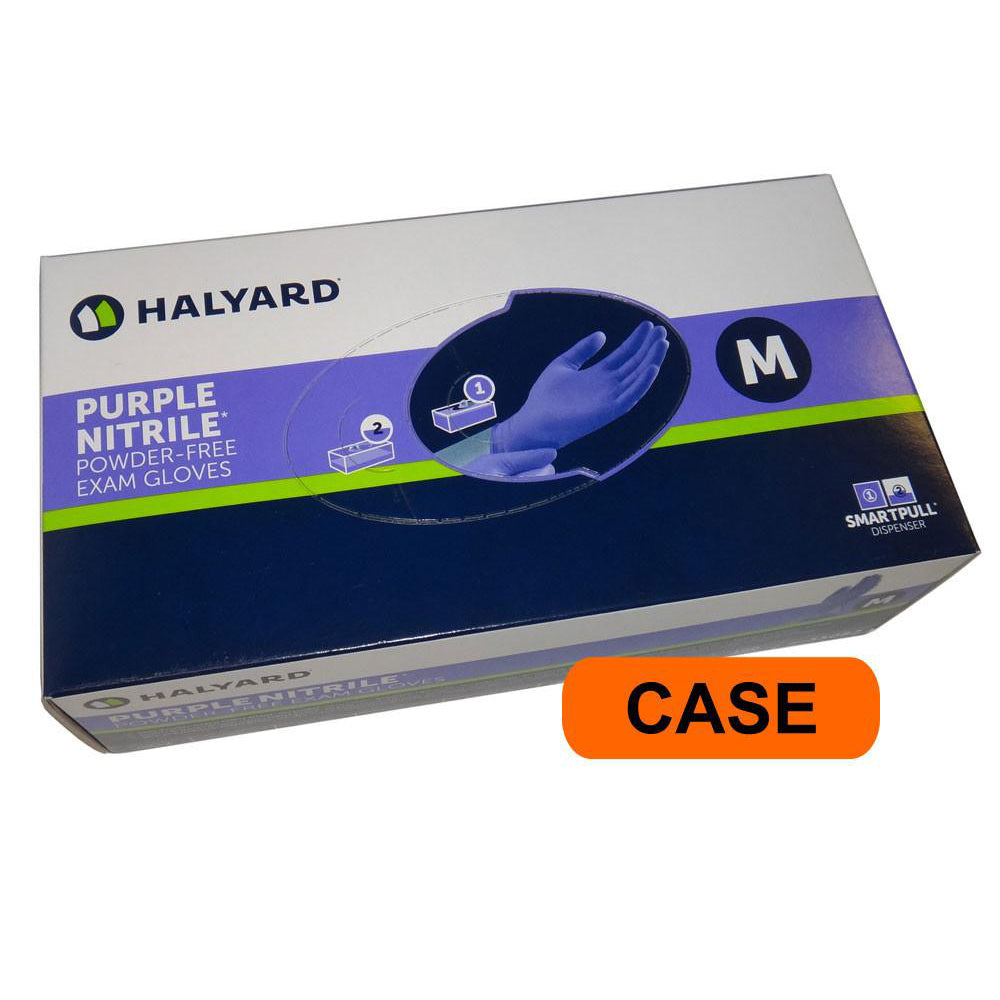 Halyard / Kimberly-Clark - Purple Nitrile Medical Exam Powder Free Gloves - CASE