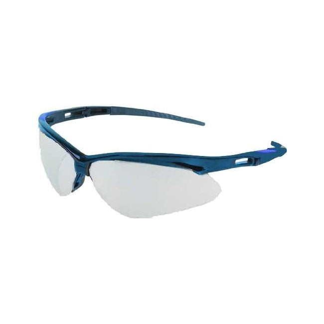 Jackson Nemesis Safety Glasses Blue Frame, Light Blue Lens