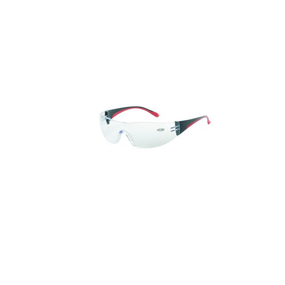 iNOX F Reader - Bifocal +2.0 clear lens with black and red frame