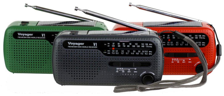 Kaito Voyager V1 AM/FM Shortwave Emergency Radio with Solar and Hand Crank