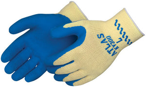 Showa Best - Blue Atlas Grip Natural Rubber Work Gloves with Kevlar Knit Liner