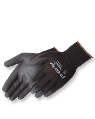 P-Grip Black polyurethane - black shell Gloves - Dozen