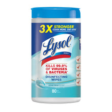 Load image into Gallery viewer, Lysol Disinfecting Wipes  Ocean Fresh - 80 Ct - Container