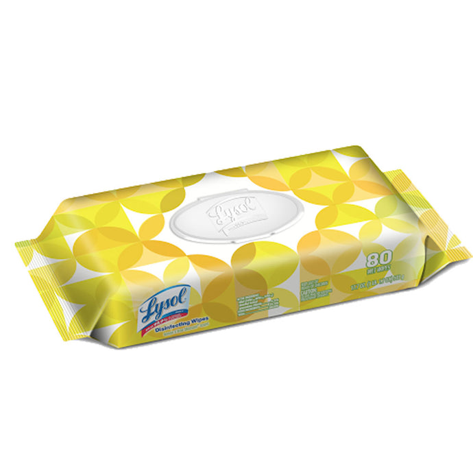 Lysol Disinfecting Wipes  Lemon & Lime Blossom - 80 Ct - Bag