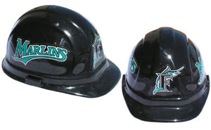 Florida Marlins - MLB Team Logo Hard Hat Helmet