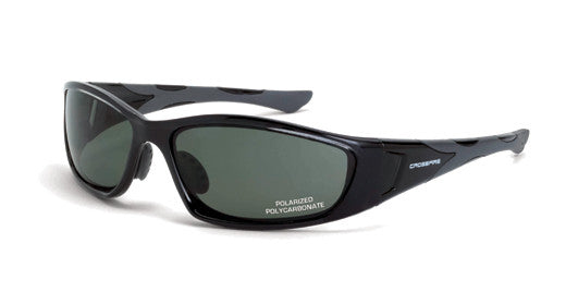 MP7 Polarized Blue/Green Lens Crystal Black Frame (No Foam Lining)
