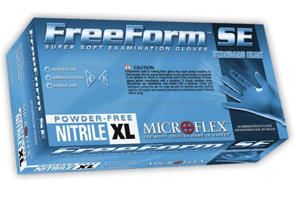 Microflex - FreeForm SE Powder-Free Nitrile Disposable Gloves - Box