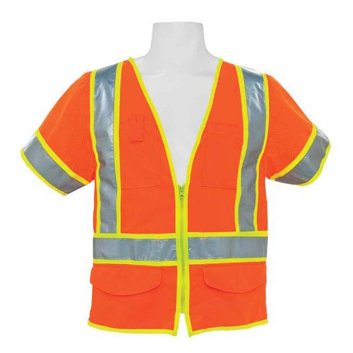 3A Safety - ANSI Class III Solid Multi-pocket Vest with Sleeves