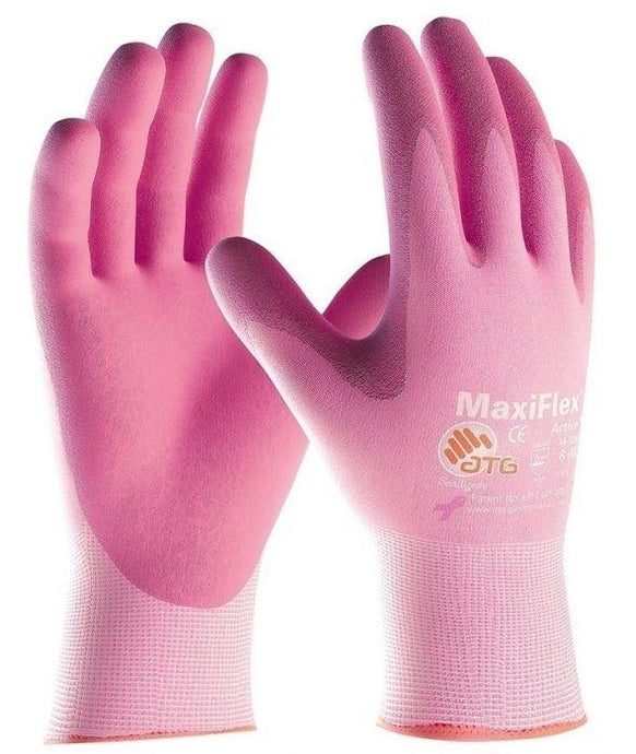 PIP- 34-8264 MaxiFlex PINK Active Seamless Knit Nylon/Lycra Gloves with Ultra Lightweight Nitrile Coated Palm & Fingers