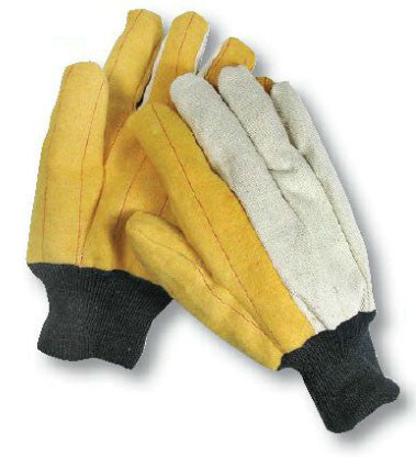 Cotton Gold Chore Gloves with Knit Wrist