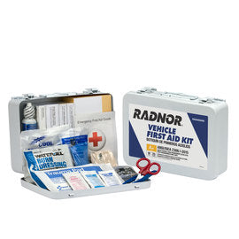 Radnor® White Metal Portable Or Wall Mounted 25 Person Vehicle First Aid Kit