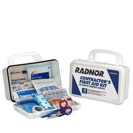 Radnor® White Plastic Portable Or Wall Mounted 10 Person Contractor First Aid Kit