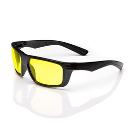 Radnor® Dynamo™ Black Safety Glasses With Amber Anti-Scratch Lens