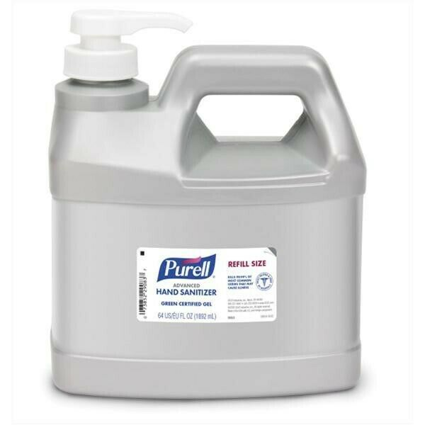 Purell Advanced Hand Sanitizer Gel Refill Size Jug with Pump - 64oz / 2 Liter