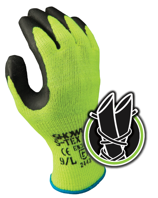 Best S-TEX Cut Resistant Coated Work Gloves - ANSI Cut Level 4