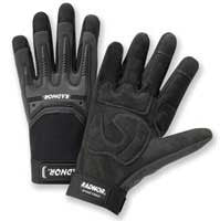 Radnor Black And Gray Synthetic Leather Gloves