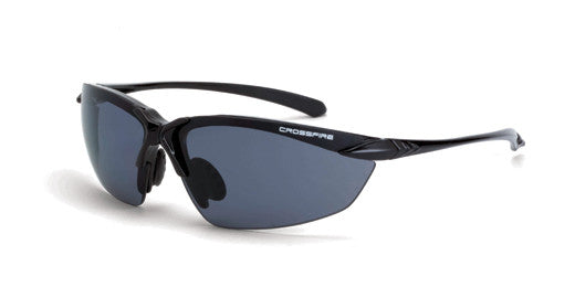 Sniper Polarized Smoke Lens Shiny Black Frame