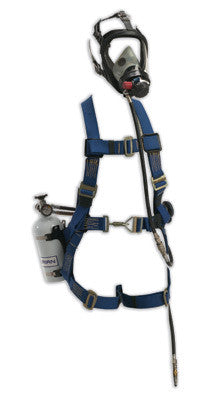 Survivair Hip-Pac Pressure Demand SAR With Escape Cylinder And Class 3 Miller Fall Protection Harness
