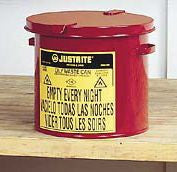 Justrite Red Oily Waste Countertop Can
