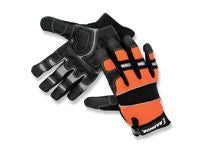 Radnor Black And Hi-Viz Orange Premium Sueded Leather Gloves