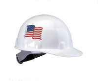 Fibre-Metal SUPEREIGHT White American Flag Thermoplastic Hard Hat