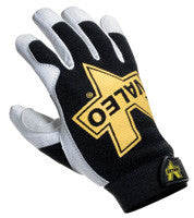 Valeo Black, White And Gold Leather Utility Gloves