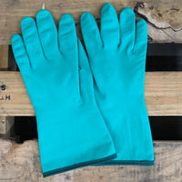 GD CARE- Green Nitrile Shell Bonded Glove With Cotton Lining