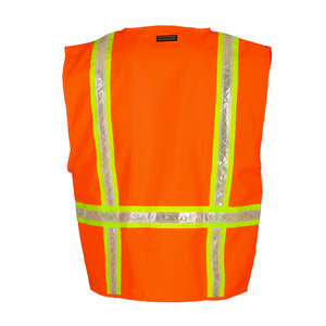 ML Kishigo - Polyester Multi-Pocket Surveyor's Vest with Pocket Flaps