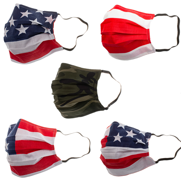 V-Masks Reusable Personal Mask American Flag Pattern (1-Mask)