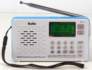 Kaito KA29 All in one world Receiver, with Recorder,AM FM SW Radio with MP3 Player