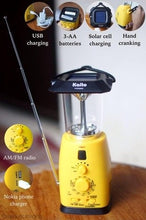 Load image into Gallery viewer, Kaito KA249W Multi-functional 4-way Powered LED Camping Lantern with AM/FM NOAA Weather Radio & Cell Phone Charger
