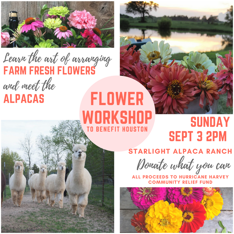 Flower Workshop to benefit Houston