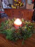 Evergreen Candle Wreath Kit