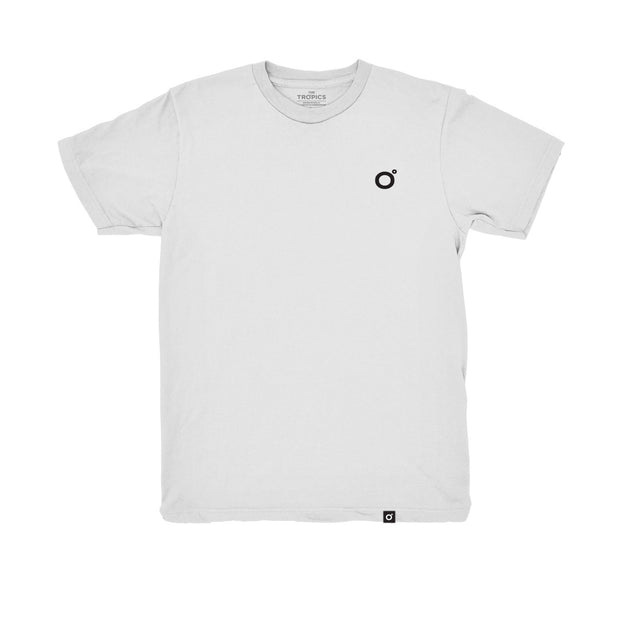 23 Degree 100% Organic Tee White