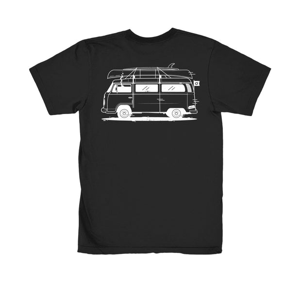 On The Road 100% Organic Tee Black