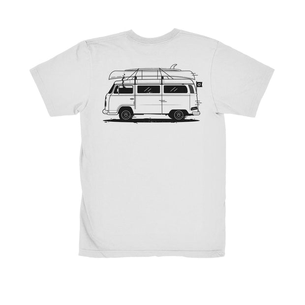 On The Road 100% Organic Tee White