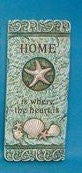 """Home Is Where the Heart Is"" Cement Shell Accent Plaque"