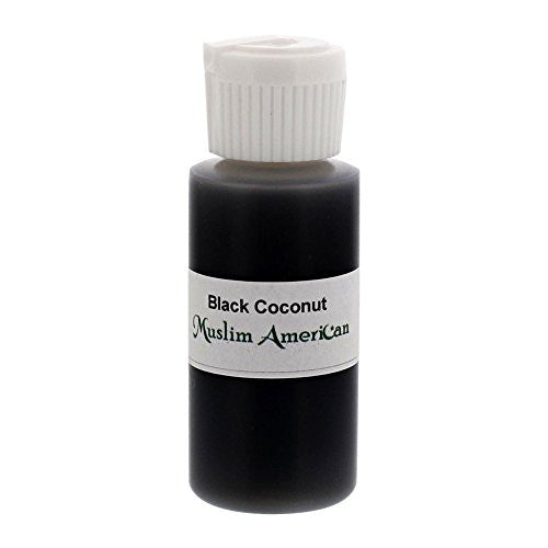 1 OZ Black Coconut Fragrance Body Oil Uncut Alcohol Free - Flip Top Cap Bottle