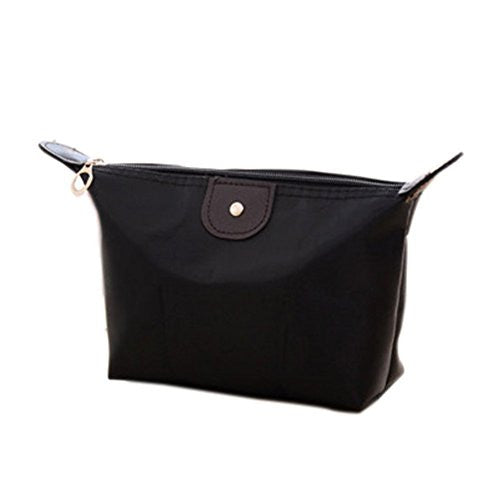 Remeehi Candy Color Cosmetic Bag Large Capacity Hand Bag Wallet Gift Package Black