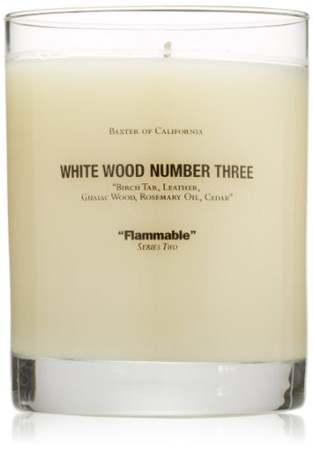 Baxter of California Scented Candle, White Wood Number Three