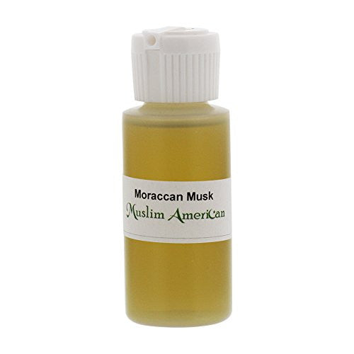 1 OZ Moraccan Musk Fragrance Body Oil Uncut Alcohol Free - Flip Top Cap Bottle