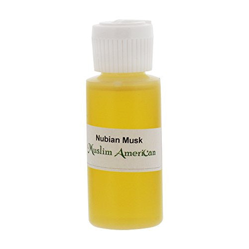 1 OZ Nubian Musk Fragrance Body Oil Uncut Alcohol Free - Flip Top Cap Bottle