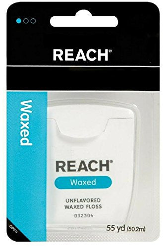 Reach Dental Floss, Waxed, 55 yd